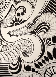 Abstract Doodle by Heidi Denney sharpie art zentangle