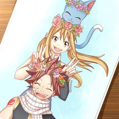 "phoenixx305: ""Nalu Fluff Week, Day 1: Flowers Enjoy~ """