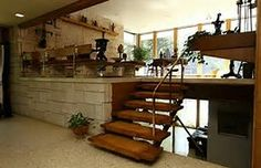 Image result for mid century mod split level home