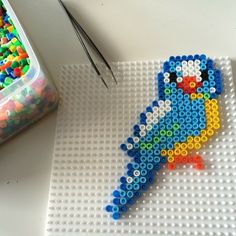 Bird Hama beads by mamaglueck