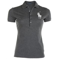 Polo Ralph Lauren Womens Purple Jewelled Large Logo Polo Shirt ($125) ❤ liked on Polyvore