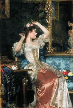 Władysław Czachórski (Polish 1850–1911) A Lady in the Mirror.