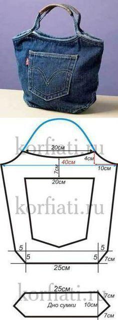 Ideas para hacer carteras de jean reciclado | diarioartesanal