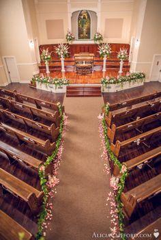 Wedding Flowers Church ceremony decor