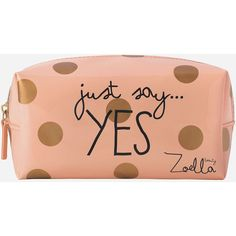 Zoella Beauty Just Say Yes Beauty Bag And Pencil Case ($15) ❤ liked on Polyvore featuring beauty products, bags, clutches and makeup bags