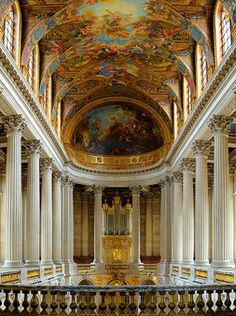 i will never forget my tour through versailles. AMAZING Palace of Versailles, France Chateau Versailles, Palace Of Versailles, Oh The Places You'll Go, Places To Travel, Places To Visit, Saint Michael, Ville France, Chapelle, France Travel