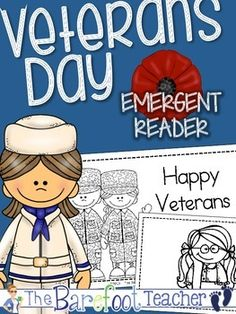 Veterans Day Emergent Reader {Build Your Own} - 21 pages to choose from! $