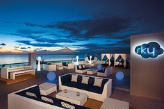 Head on up to the Sky Bar at Secrets Aura Cozumel and enjoy a cocktail under the stars.