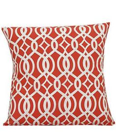 Monogrammed Coral Vine Print Cushion Cover by EmbroideryByLindaP