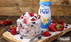 This simple Summer Berry Cheesecake Salad recipe comes together with just 5 ingredients. Rich and creamy cheesecake filling is folded i...