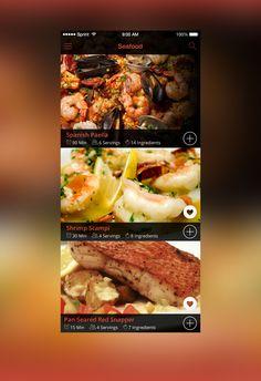 Let's Cook - Cooking & Recipe App Design Concept - PSDs on Behance