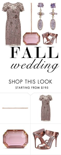 """""""Untitled #560"""" by jazzley-24 ❤ liked on Polyvore featuring Phillip Gavriel, Adrianna Papell, Charlotte Olympia, Ted Baker, Melissa Joy Manning and fallwedding"""