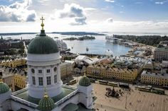 Bird`s eye view of Helsinki - by the Finnish newspaper Helsingin Sanomat (HS)