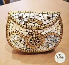 Stand out with this unique bag with mother of pearl and brass metalwork. With antique ethnic tribal detailing and floral pattern, this bag can be worn as a shoulder bag or a clutch bag. Buddha Buddhism, Tibetan Buddhism, Unique Bags, Clutch Bag, Metal Working, Saddle Bags, Zen, Online Shopping, Ethnic