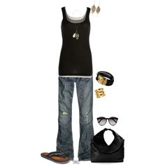"""Layer tanks.. Oh so simple"" by tmlstyle on Polyvore"