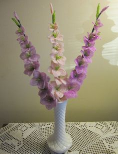 French Beaded Flowers Gladiolas by SherrysBeadedFlowers on Etsy