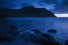 Deep blue landscape