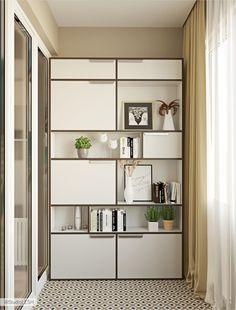Дизайн проект маленькой квартиры в Москве | Студия LESH Shelving, House Design, Interior, Home Decor, Style, Pictures, Shelves, Swag, Photos