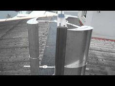 Vertikales Windrad (VAWT) C-Rotor - vertikal axis wind turbine 1 kw Electric Power, Wind Power, Home Jobs, Useful Life Hacks, Alternative Energy, Renewable Energy, Solar Panels, Techno, Generators