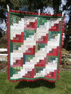 Baby girl watermelon quilt by OregonDickson on Etsy, $150.00
