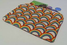 coin purse made with rainbow fabric £5.00