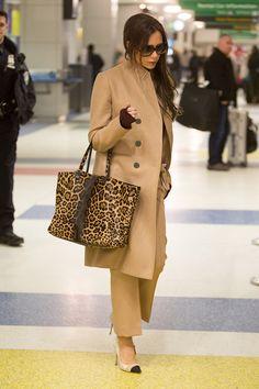 Victoria Beckham à l'aéroport en 2015 © Abaca