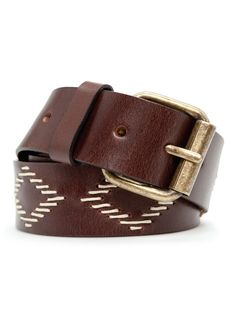 Patterned Leather Belt #fashion #menswear