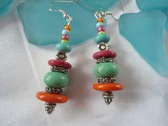 SALE DESERT RAIN  Bohemian Gypsy EarringsTurquoise by Nezihe1, $12.00
