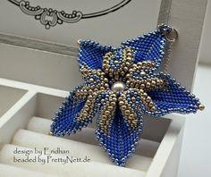 """Beaded pendant """"Desert Rose"""" beaded by PrettyNett.de #beadedjewelry"""