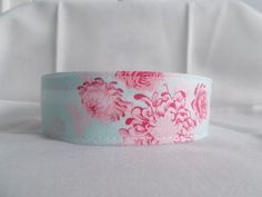 CollarCouture Tilda blue and pink shabby chic martingale dog collar
