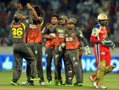 Highlights in pictures of game between Sunrisers Hyderabad (Risers) vs Royal Challengers Bangalore in the sixth edition of Indian Premier League (IPL) on Sunday. Hyderabad, Premier League, Cricket, Motorcycle Jacket, Highlights, Indian, Image, Fashion, Moda