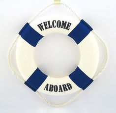 "13"" Welcome Aboard Life Ring 