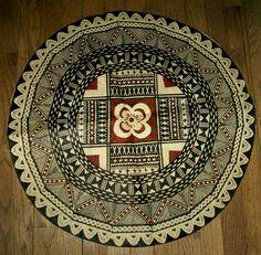 Tapa Masi Bark Cloth South Pacific Island Tribal Art Large Vintage
