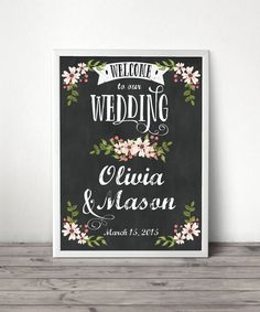 Hey, I found this really awesome Etsy listing at https://www.etsy.com/listing/197457568/custom-chalkboard-welcome-sign-wedding
