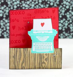 I heart these new stamps and inks!