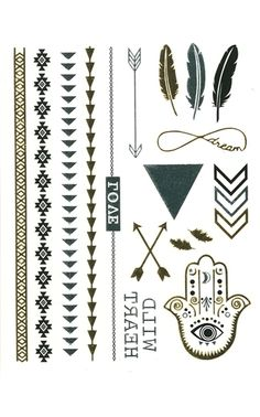Ily Couture Metallic Tattoo - Feather on shopstyle.com