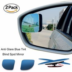 2pcs/lot Car Styling 360 Degree Car mirror Wide Angle Round Convex Blind Spot Mirror For Parking Rear View Mirror Rain Shade