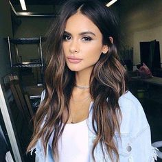 57 ideas hair color ideas for brunettes balayage dark ombre haircuts Brown Hair Balayage, Brown Blonde Hair, Dark Brown Balayage Medium, Bayalage On Dark Hair, Ombre For Dark Hair, Brown Beach Hair, Brown Hair Inspo, Orange Brown Hair, Hair Beauty