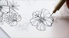 How to draw a hibiscus wreath, Speed drawing, The Aloha Studios – Hildur.K.O