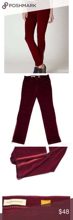 "Anthropologie Pilcro Skinny Ankle Zip Wine Cords Anthropologie Pilcro and the Letterpress Stet Ankle Zip Wine Cords. Womens Sz: 30 (Inseam 30"")  Condition: Great shape, pre-owned    ALL ITEMS COME FROM A SMOKE-FREE HOME Anthropologie Pants Skinny"