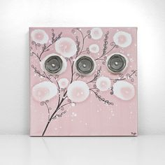 Hey, I found this really awesome Etsy listing at https://www.etsy.com/listing/183260883/pink-and-gray-nursery-art-small-canvas