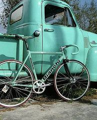 dont know what i love more - the bike or the truck