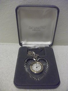 NIB WATERFORD CRYSTAL HEART CLOCK PENDANT W/ STERLING NEC... https://www.amazon.com/dp/B00HEDPT4I/ref=cm_sw_r_pi_dp_U_x_984HAbTBG6JMW