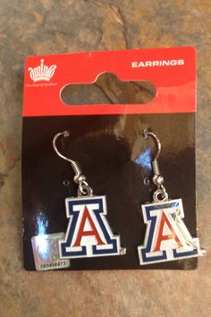 University of Arizona Earrings X