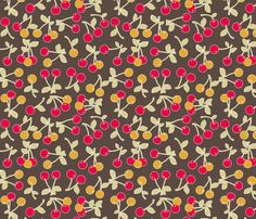 retro cherry kitch fabric by katarina on Spoonflower - custom fabric