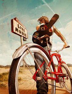 Dar un paseo en bici