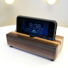 Wood iphone dock, charging stand, charging station, ipod dock, wood cell phone…