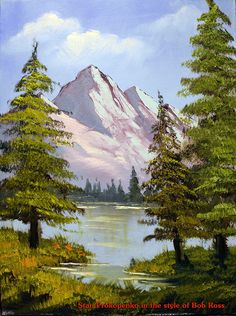How to Paint Happy Trees - Bob Ross Parody Kunst Happy Trees - Stan Prokopenko im Stil von Bob Ross Easy Landscape Paintings, Cool Landscapes, Watercolor Landscape, Landscape Art, Beautiful Landscapes, Easy Watercolor, Pinturas Bob Ross, Bob Ross Art, Bob Ross Paintings