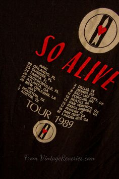 Love and Rockets  So Alive Tour  1989  Rare #vintage #tshirt #80s $47.99