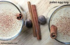 This paleo egg nog is thick, rich, creamy and delicous! It's a decadent treat to enjoy over the holidays.